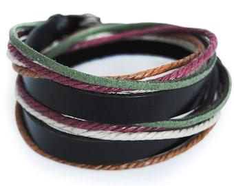 axy wrap bracelet TWIC6-1!  Leather Bracelet