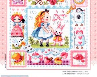 Alice in Wonderland - a fairy tale cross stitch pattern. SODAstitch SO-3177