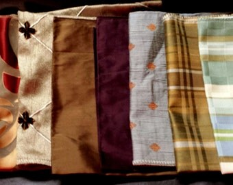 Set of Seven- 17in x 17in Upholstery fabric Squares-16AA