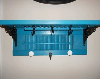 coastal blue shutter shelf