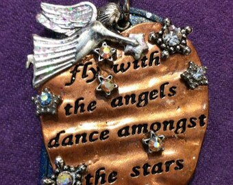 Fly with the Angels Dog Tag