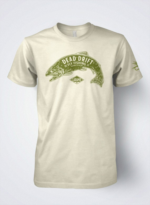 Fly fishing t shirt for men vintage trout original by by for Fly fishing shirt