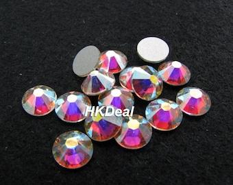 Swarovski Rhinestones for Nails ss20 Crystal AB 4mm Flatback Rhinestones Nail Art Nail Tools [144 pcs]
