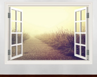 pathway window frame wall art sticker decal transfer mural graphic wall stickers wsd341