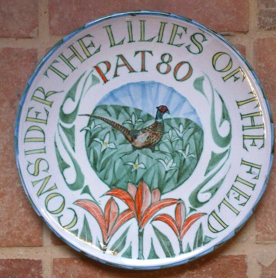Commemorative Personalised Plate Hand Thrown By Yarntonpottery
