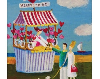 Hearts to Go   - Archival Fine Art Print  - Gift,         Wall Decor, Home Decor, Housewares