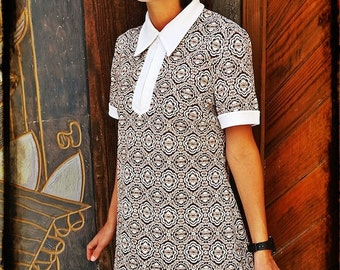 VINTAGE 70's SHORT DRESS// S o M Size