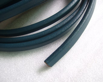 Sea Blue Real Licorice Leather Cord , 10x6mm leather for Licorice bracelet P010
