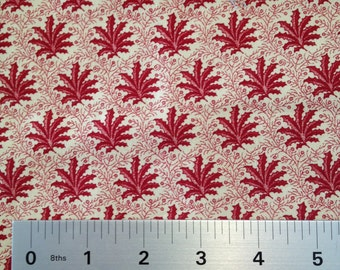 LEAVES IN RED-Spirit of the Season- Designer Quilting Fabric- 100% Cotton