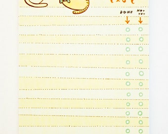 To-Do List Notepad Kawaii Cat To Do List Office Gift
