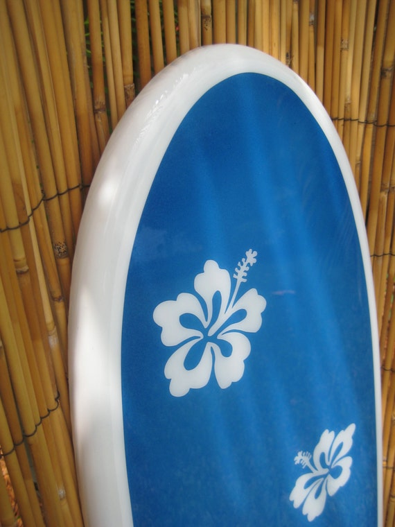Decorative Classic Surfboard Wall Art Dancing Hibiscus for a home ...