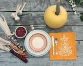 batik thanksgiving napkins goldenrod