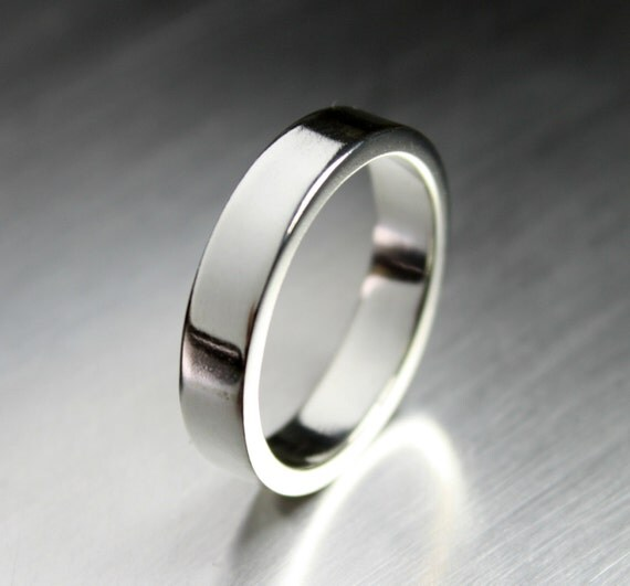 Sterling Silver Wedding Band For Men Simple By JenniferWoodJewelry