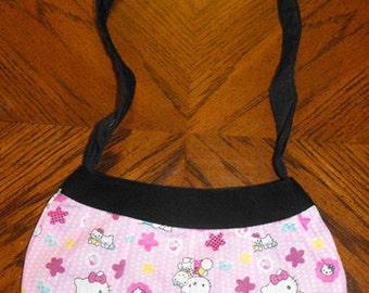 Pink Kitty Print Small Buttercup Bag