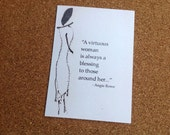 A Virtuous Woman Quote Greeting Card For Any Occasion