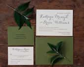 Letterpress Wedding Invitations: 'Summer Day' (custom printed)
