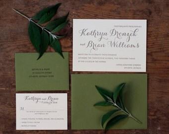 Letterpress Wedding Invitations: 'Summer Day' (custom printed)