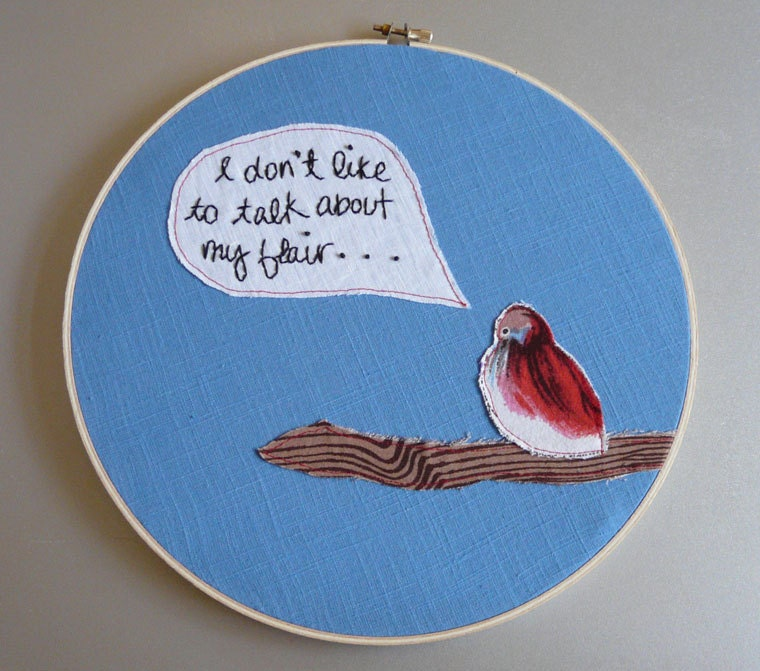 37 pieces of flair hand embroidered office space - Office space pieces of flair ...
