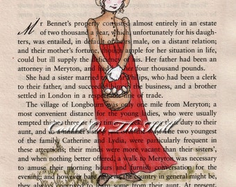 Pride and Prejudice - Jane Austen - Jane Bennet - 5 x 7 print
