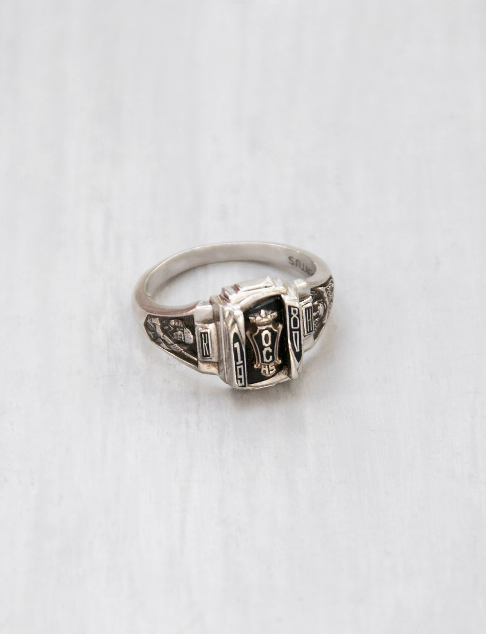 Vintage 1980 Class Ring Argentus Silver Size by CuriosityCabinet