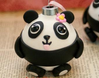 Larger Size Kawaii Panda Bear Ornament Girl