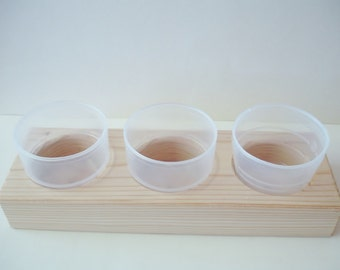 Wooden Organizer for Your Crafting Supplies, Beads, Mosaic Pieces, Small craft items - 3cup StorageTray