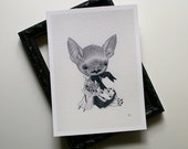 Baby Bat (girl) - archival print