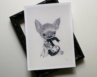 Baby Bat (girl) - archival print