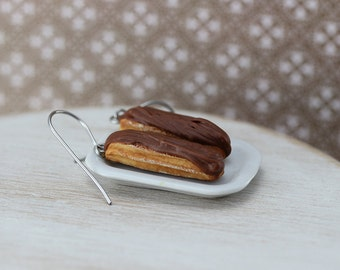 Chocolate Eclair Earrings
