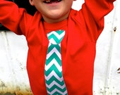 Ugly Christmas Sweater - Green Chevron- Pick a Fabric - Christmas Tie Applique Shirt Long Sleeve T Shirt Kids or Mens - S M L XL 2XL