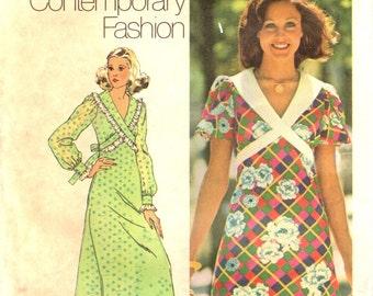Simplicity 5430 YOUNG CONTEMPORARY FASHION Mini or Maxi Dress circa 1972