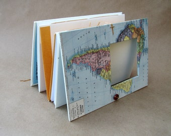South America Travel Scrapbook - Journal Notebook with Pockets and Envelopes - Personalized - Missions journal