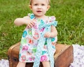 Elephant Simply Cute Dress with Bow Party Circus Polkadot Birthday