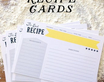 The Best Recipe Double-Sided Recipe Cards, Set of 12, masculine recipe cards, fathers day gift, gift for cooks, kitchen gift, teacher gifts