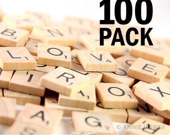 100 Pack Scrabble Tiles Scrabble Pendant Supplies. New. Never Used. AnnieHowes