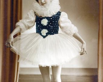 Girl w Ballet Pierrot  Costume photo