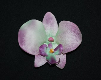 Lavender and Green Orchid Flower Hair Clip - Buy 3 Items, Get 1 Free