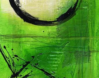 Enso.. Series ... No. mm13.. Original Contemporary Mixed Media Zen Circle art painting by Kathy Morton Stanion EBSQ