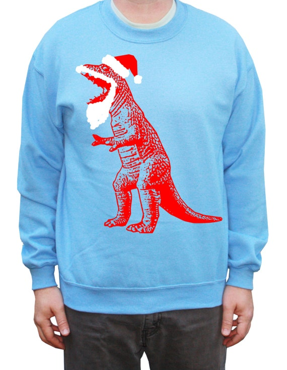 Funny Ugly Christmas Sweater Santa T-Rex Dinosaur Sweatshirt