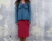 ORGANIC Gypsy Babydoll Shirt (light hemp and organic cotton knit) - organic shirt