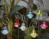 Fairy Lights, 9 Glow In The Dark, Flower Lanterns, Magical House Miniature, Plant Stake