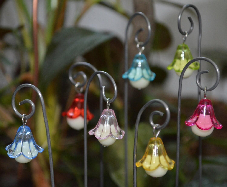 glow in the dark flower fairy lights 3 lanterns by polymerpame. Black Bedroom Furniture Sets. Home Design Ideas