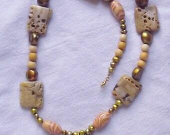 Sunken Treasure beaded necklace with pendant