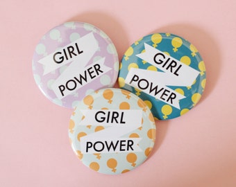 Jumbo Girl Power 2.25 Inch Button