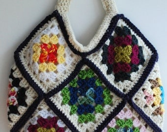 Purse, handbag, granny square bag, crochet