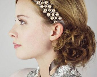 Juliet Pearl and Ribbon Headband