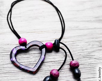 Natural Hair Tie, Headband, Natural Hair Accessories, Purple Heart Adjustable Natural Hair Tie Headband
