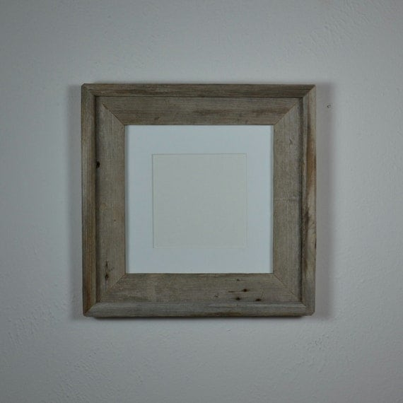 8x8 Photo Frame With Mat For 6x6 Or 5x5 By Barnwood4u On Etsy