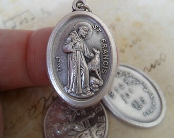 St. Francis of Assisi Medal, Patron Saint of Animals and Pets, Catholic Jewelry Supplies