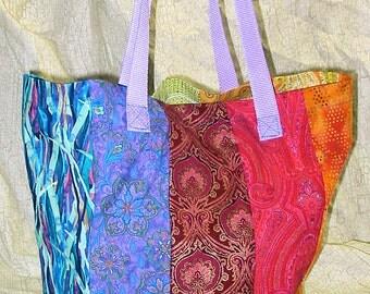 Hippie Boho Reusable Rainbow Shopping Grocery Bag